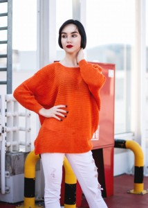 Sweter BRAZOS ORANGE